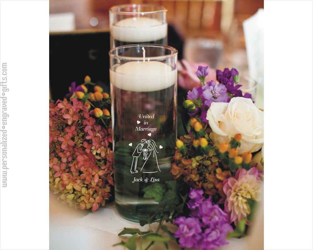 Personalized Straight-Sided 10 inch Glass Vase - The Shelby
