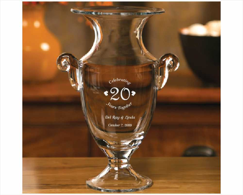 Engraved Crystal Callypso Trophy Cup
