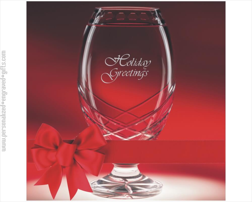 Venture Glass Vase Deep Engraved for Special Awards and Occasions