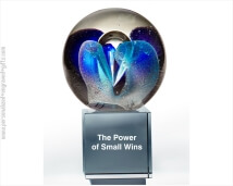 Engraved Globe  Award Fascination Art Glass