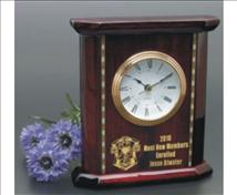 Engraved Inlaid Rosewood Clock