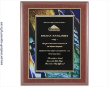 Engraved Mahogany Plaques with Artistic Plaque