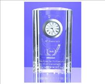 Engraved Mirage Crystal Clock with Your Personal Message