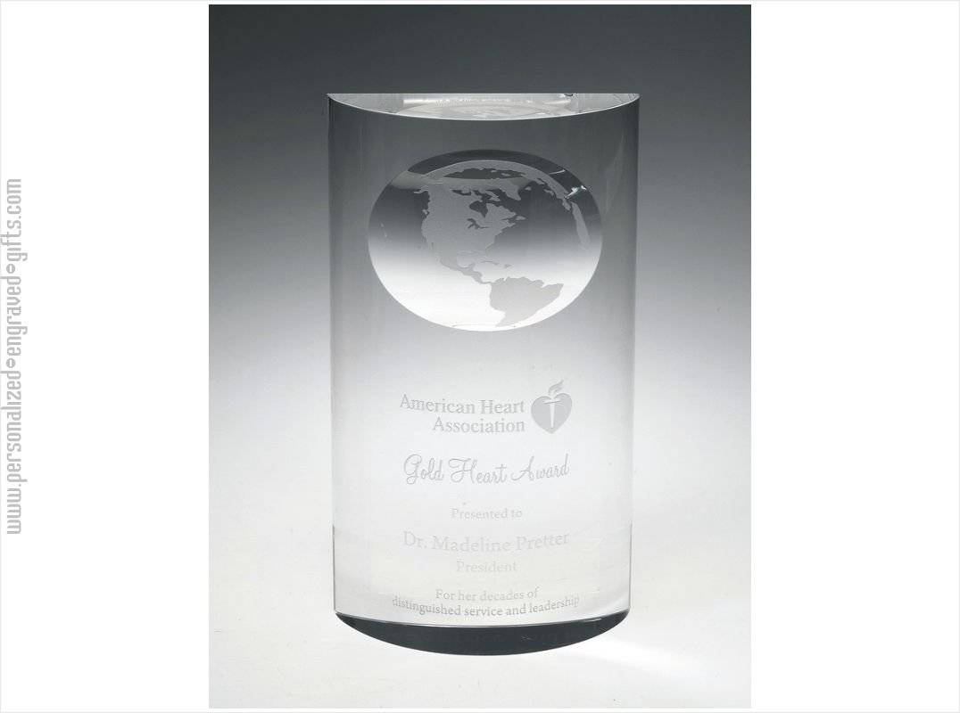 Engraved Mirage Globe Award