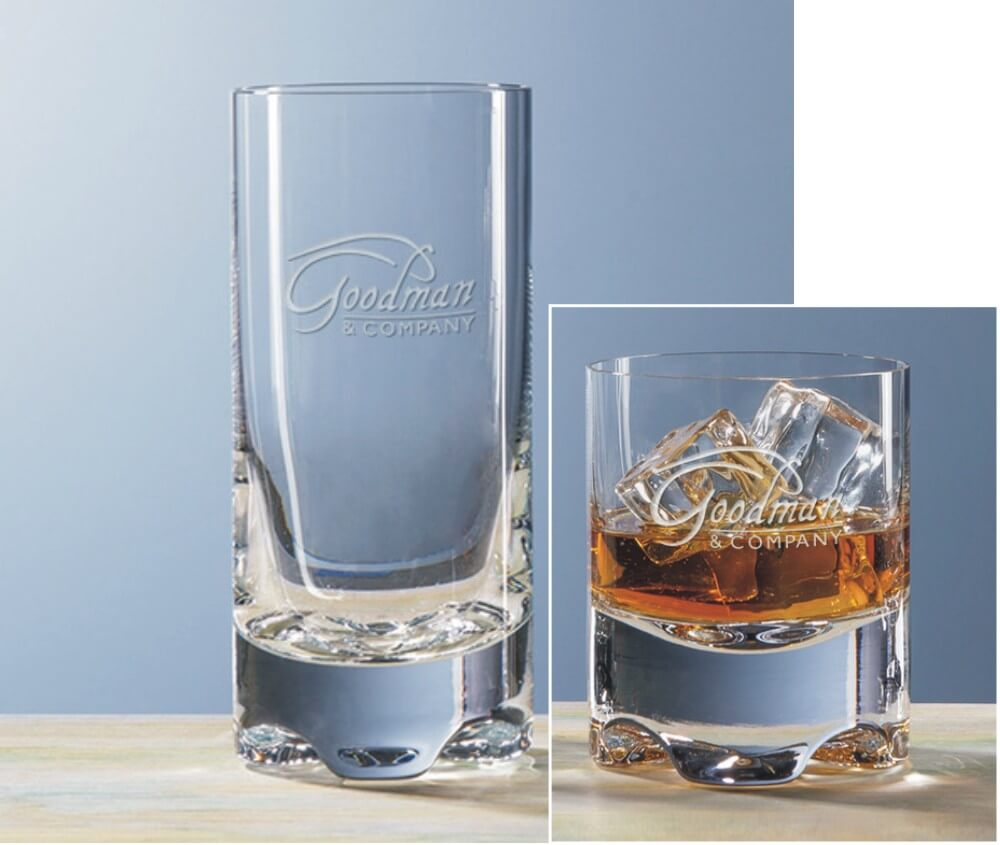 Logos & More on Bar Glasses with Molded Base - Napoli