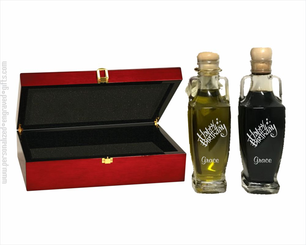 Engraved Olive Oil &  Vinegar Set  Choose your Design