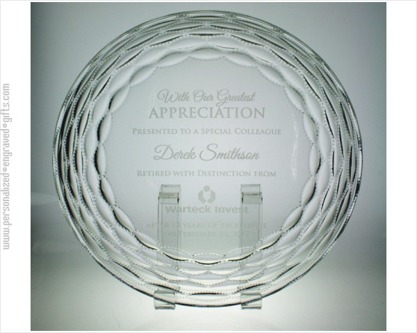 Personalized Glass Appreciation Plate - The Breeze