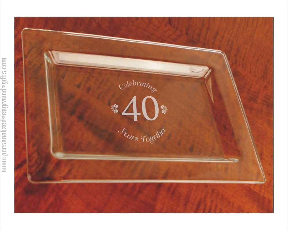 Custom Engraved Glass Rectangle Tray, The Fulham