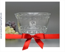 Revere Bowl Personalized with Deep Engravings and Garland Trim