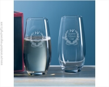 Engraved Riedel O Champagne Glasses