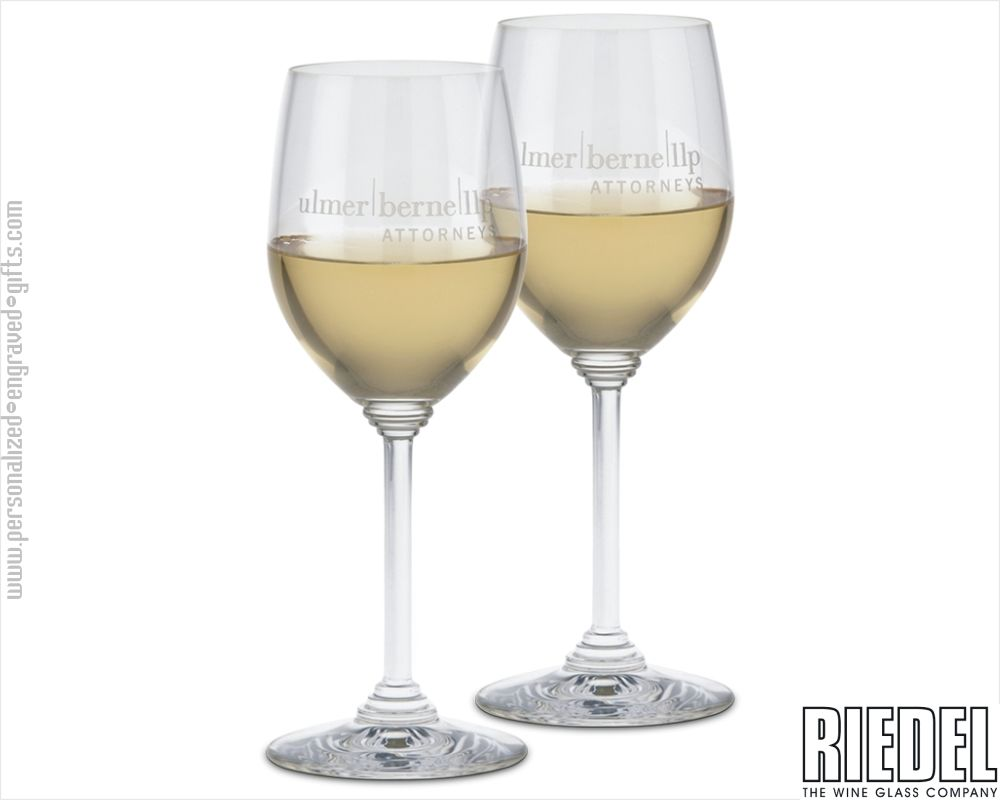 Engraved Riedel Chardonnay Stemware Set of 2