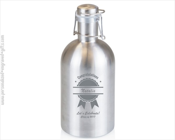 Engraved 64 oz Stainless Steel Beer Growler