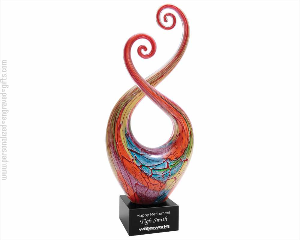 Personalized Engraved Art Glass Awards