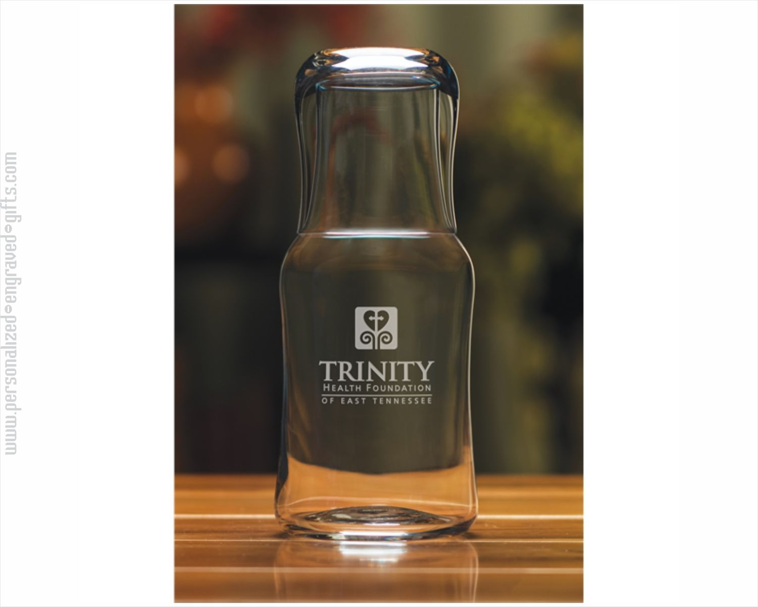 Engraved Water Carafe and Glass Set Tracy