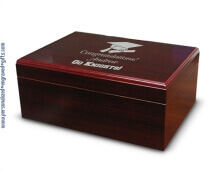 Cherry Finished Wooden Desktop Humidor - The Manager - just for the MBA Graduate