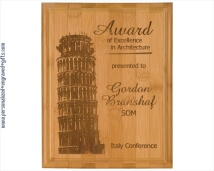 Engraved Genuine Bamboo Plaques