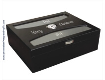Personalized Black Finish Humidor - South Beach