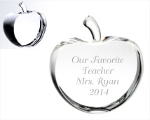 Engraved Awards - Crystal Apple Sliced