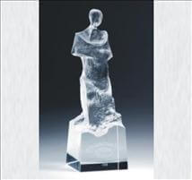 Engraved Crystal Abstract Figure