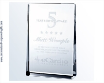 Engraved Crystal Vertical Rectangle Plaque