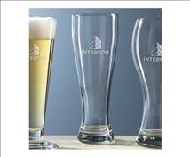 Engraved Tall Pilsner Beer Glass