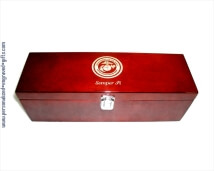 Engraved Wine Gift Box with Tools - High Gloss Piano Finished Wood