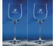 Engraved Wine Glass - Tulip Style Set of Two
