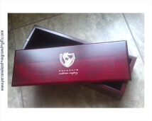 Engraved Hand-Crafted Solid Wood Wine Gift Box - Red