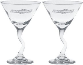 Jazzy Stem Engraved Martini Shakers