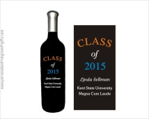 Celebrate the Graduate of the Class of 2017 with a Personalized Wine Bottle