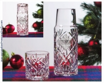 Holiday Engraved 2-Piece 20oz Crystal Water Set