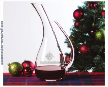 Holiday 54oz Engraved Crystal Decanter with Handle