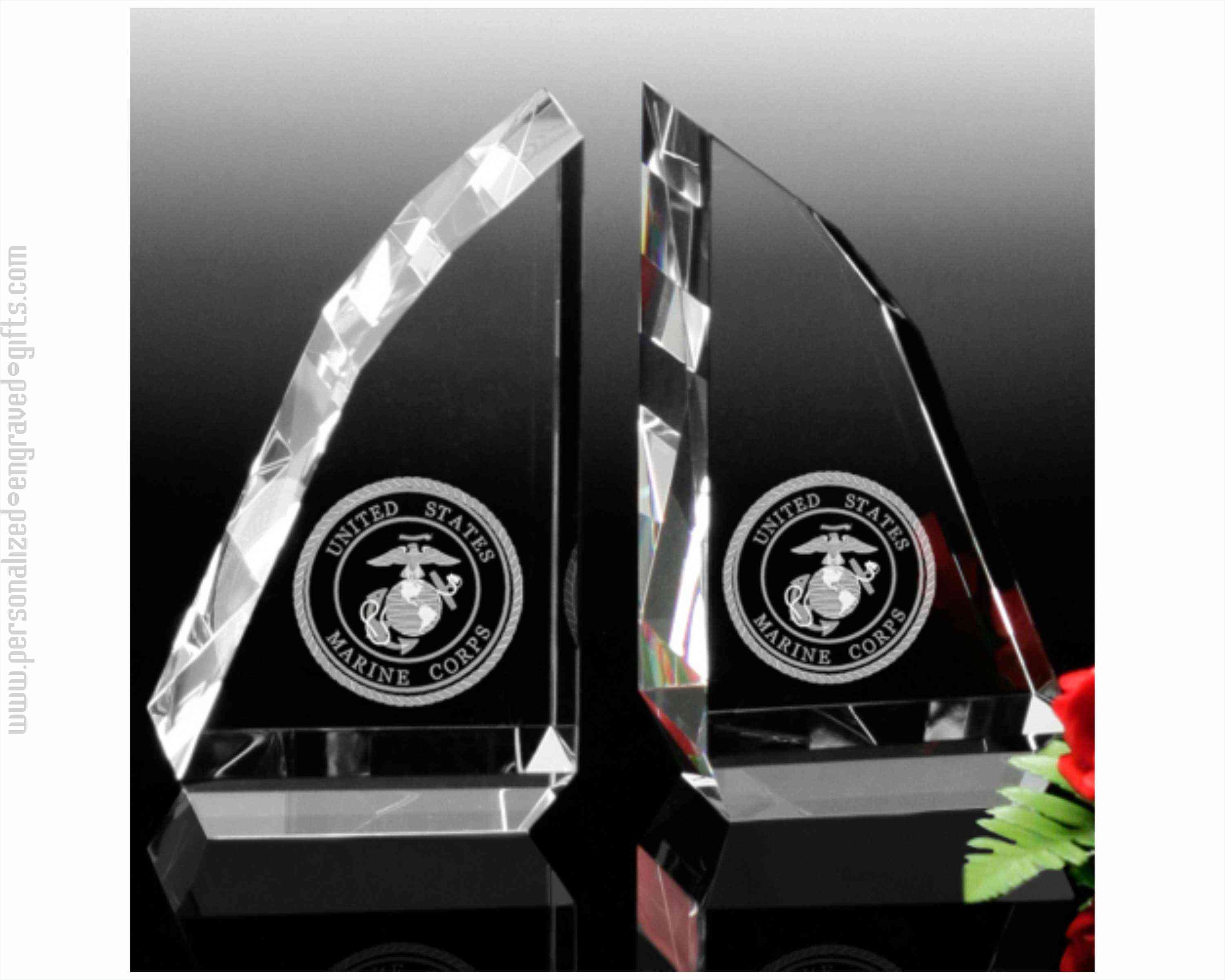 Jagged Crystal Bookends Personalized with Logo