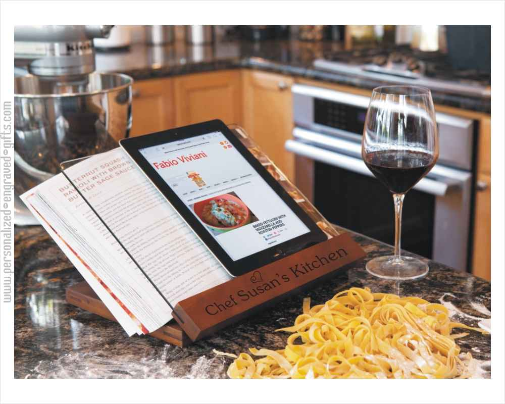 Personalized Cookbook Stand for Your Favorite Cook