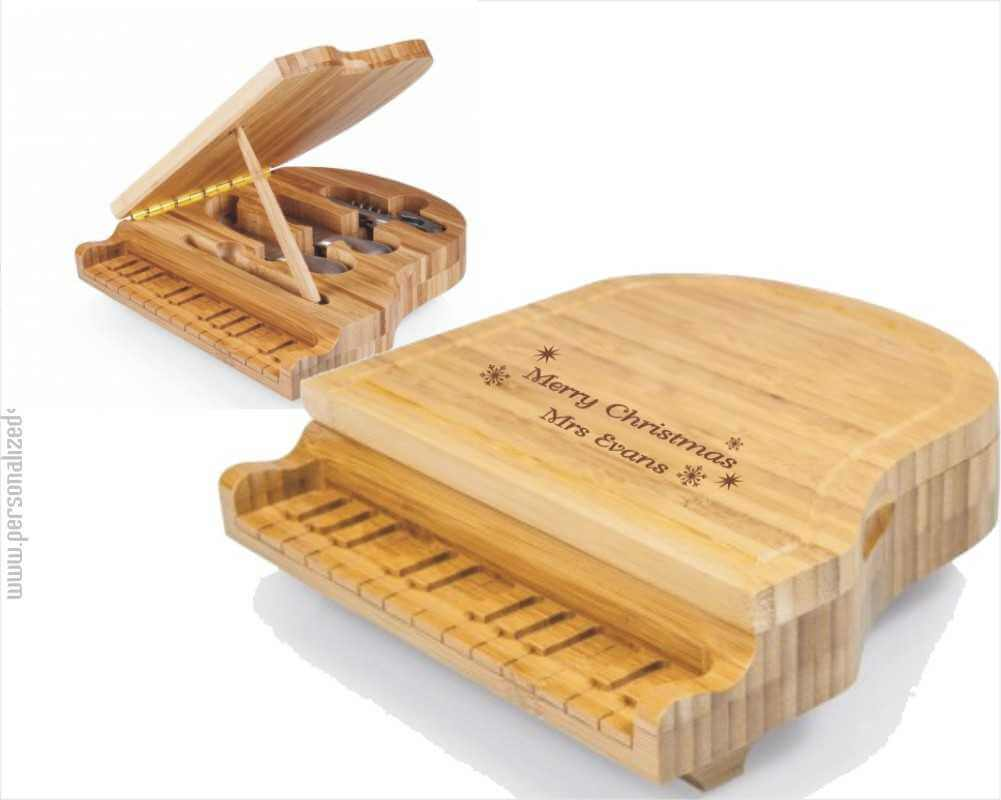 Laser Engraved Grand Piano Shaped Cheese Board