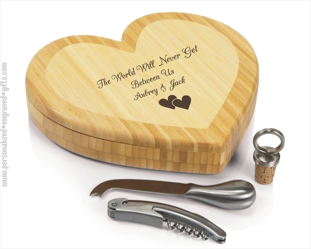 Heart Shaped Cheeseboard Personalized for for Your Sweetheart