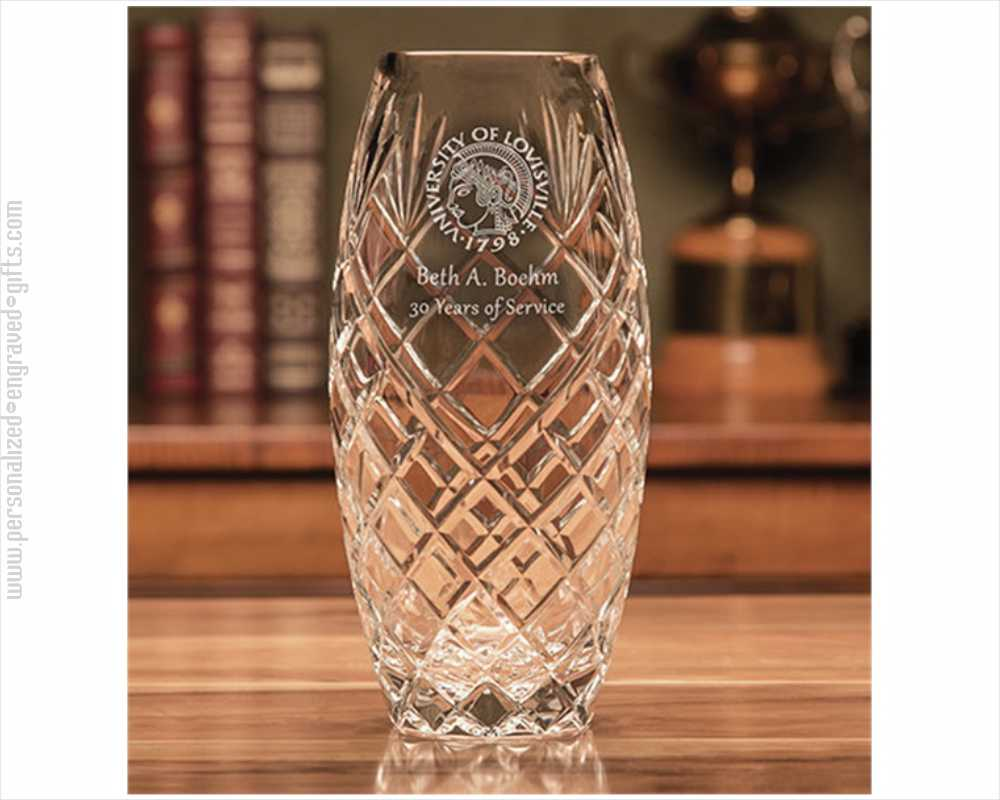 Lead Crystal Vase Personalized and Engraved the Lewis