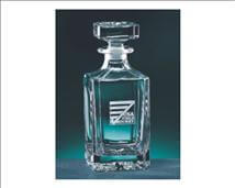 Customized Engraved Square Lead Crystal Decanter