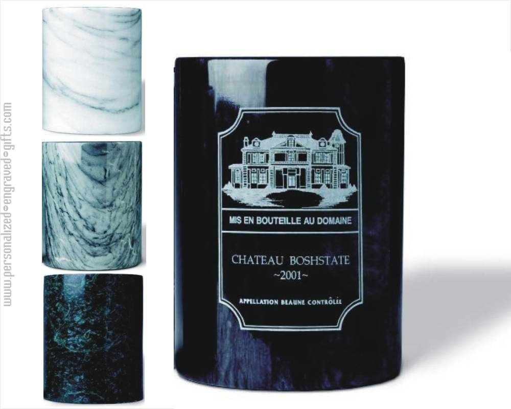 Marble Champagne or Wine Cooler Custom Engraved
