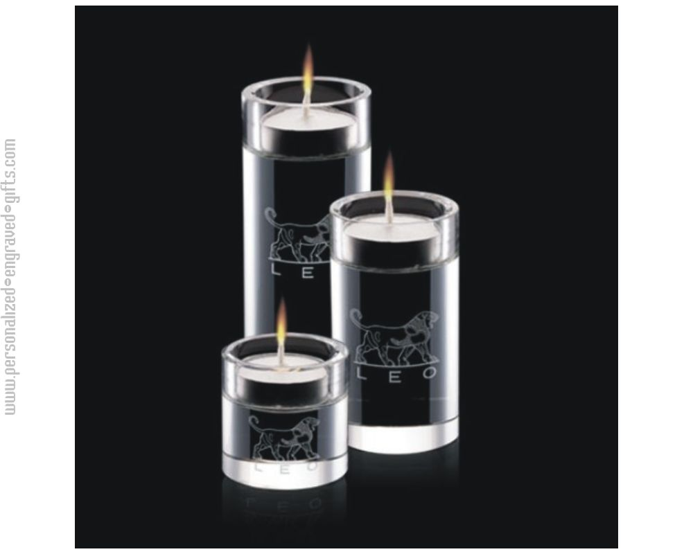 Personalized Crystal Candle Holder Set - Noblesse