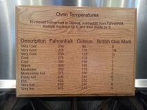 Laser Engraved Wooden Oven Temperature Plaque