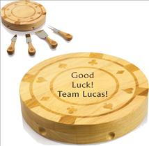 Casino Cheese Cutting Board Expertly Engraved With Your Text