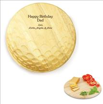 Laser Engraved Golf Ball Shaped Cutting Board