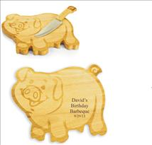 Pig Shaped Cutting Board Engraved with your text