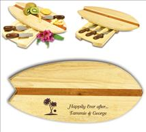 Surfboard Shaped Cheeseboard Customized With Your Text