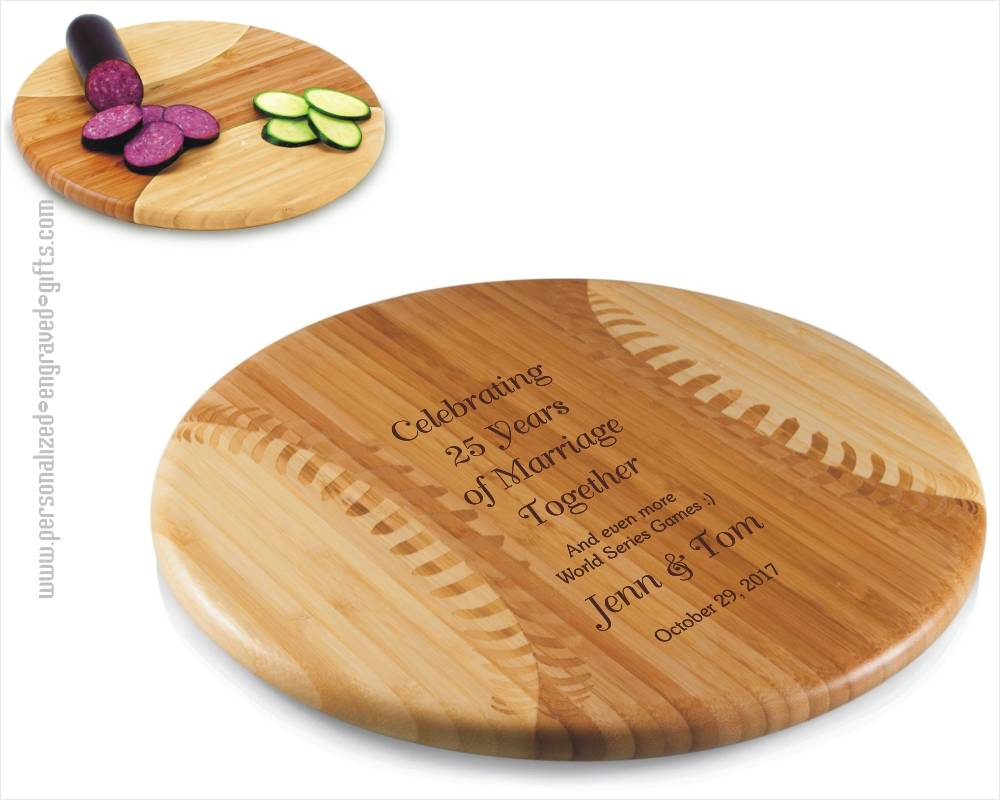 Baseball Styled Cutting Board Engraved for You