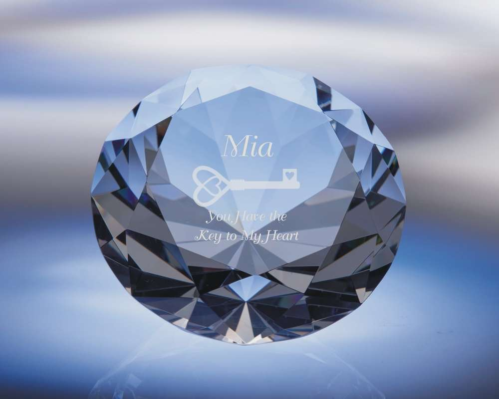 Engraved Diamond Paperweight