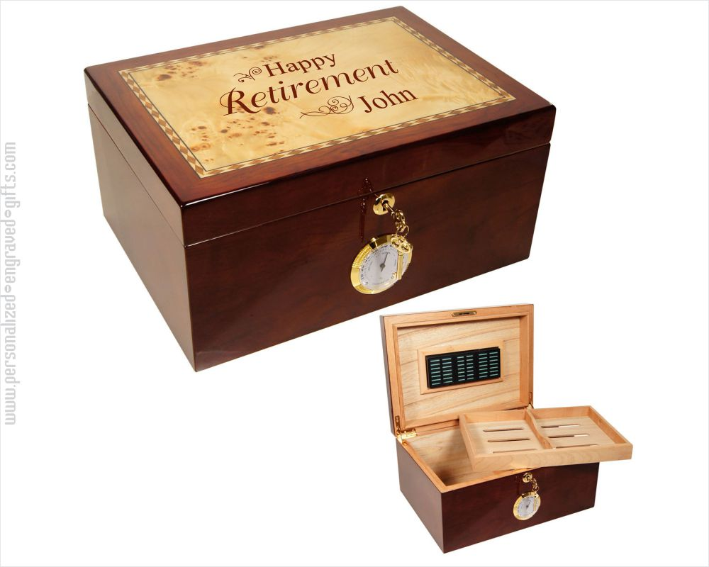 Personalized Engraved Humidor Brightleaf