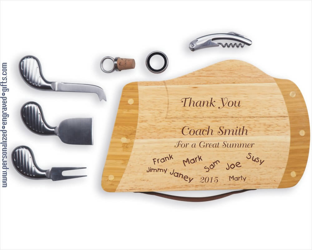 Engraved Golf Bag Cheese Board-Caddy