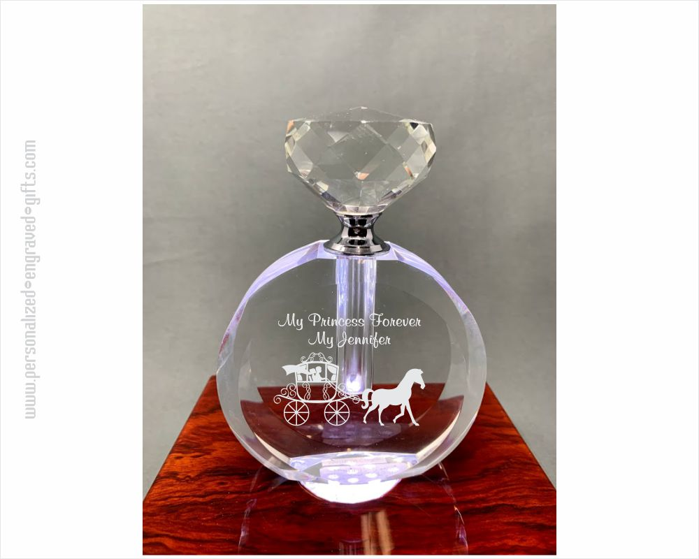 Personalized Facetted Crystal Perfume Bottle - Joy
